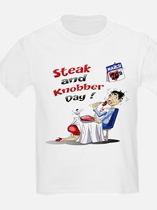 Steak and Knobber Day Logo T-Shirt