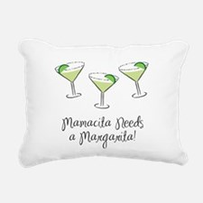 2-MamasitaMargarita.png Rectangular Canvas Pillow