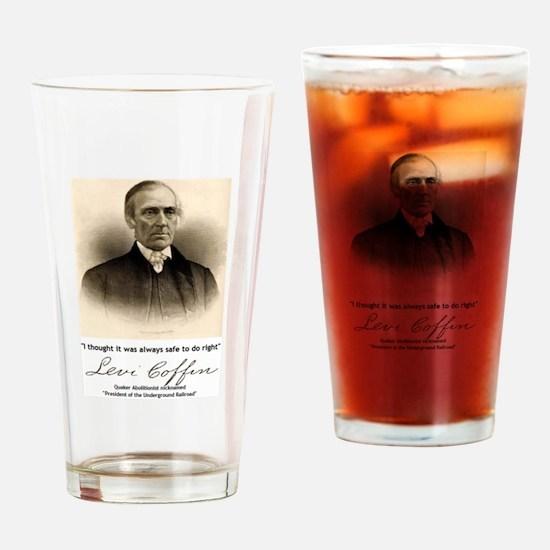 Levi Coffin Drinking Glass