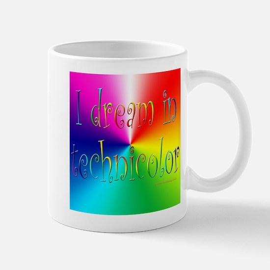 technicolor w logo Mugs