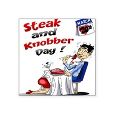 Steak and Knobber Day Logo Sticker