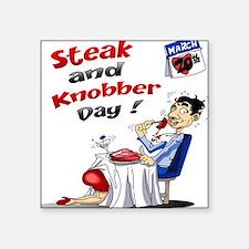 Steak and Knobber Day Logo Sticker