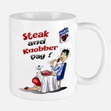 Steak and Knobber Day Logo Mug