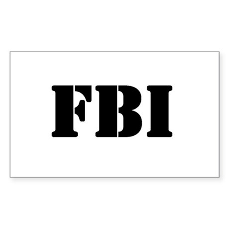 FBI Rectangle Sticker