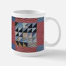 Squares and Triangles Red Mug