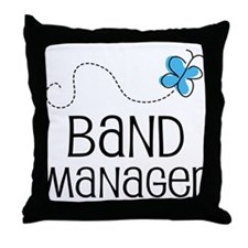 Cute Band manager Throw Pillow