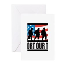 Support our troops - Infantry Greeting Cards