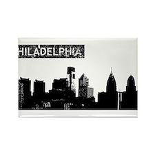 Philadelphia Skyline Rectangle Magnet