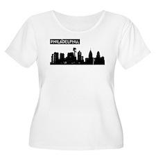 Philadelphia Skyline Plus Size T-Shirt