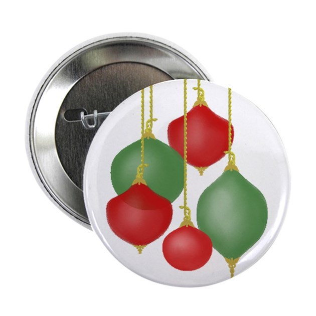 Funky christmas ornaments button by funkyolive