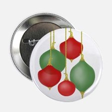 Funky Christmas Ornaments Button