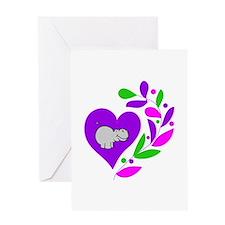 Hippo Heart Greeting Card