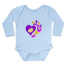 Hamster Heart Long Sleeve Infant Bodysuit