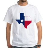 Map of texas Mens White T-shirts