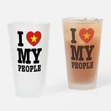 I Heart (Love) My Viet People Drinking Glass