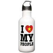 I Heart (Love) My Viet People Sports Water Bottle