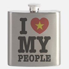 I Heart (Love) My Viet People Flask