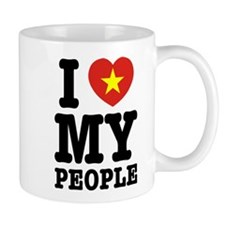 I Heart (Love) My Viet People Small Mug