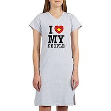I Heart (Love) My Viet People Women's Nightshirt