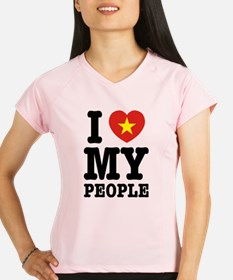 I Heart (Love) My Viet People Peformance Dry T-Shi
