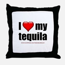 """""""Love My Tequila"""" Throw Pillow"""
