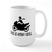 Female Motorcyclist Mug