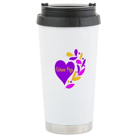 Guinea Pig Heart Stainless Steel Travel Mug