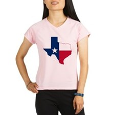 Texas Flag Map - Performance Dry T-Shirt