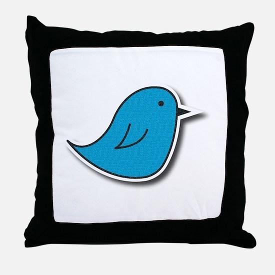 Vox Blue Bird Throw Pillow