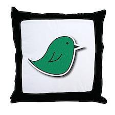 Vox Green Bird Throw Pillow