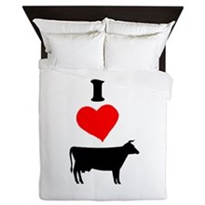 I heart Cow Queen Duvet