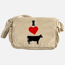 I heart Cow Messenger Bag