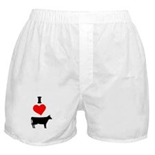 I heart Cow Boxer Shorts