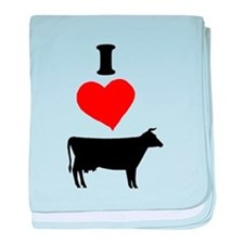 I heart Cow baby blanket
