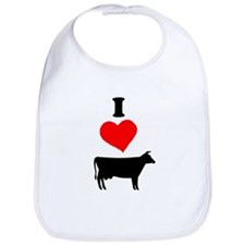 I heart Cow Bib