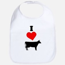 I heart Cow Bib