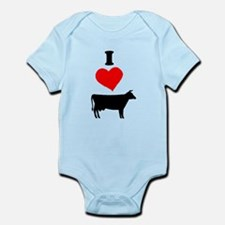 I heart Cow Body Suit
