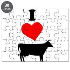 I heart Cow Puzzle