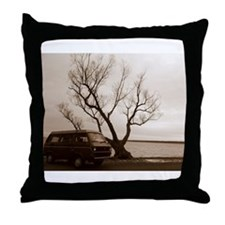 Vanagon by the Lake Throw Pillow