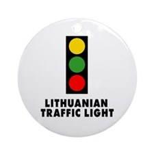 Lithuanian Traffic Light Ornament (Round)