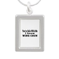 I Know Wing Chun Silver Portrait Necklace