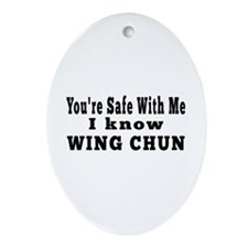 I Know Wing Chun Ornament (Oval)