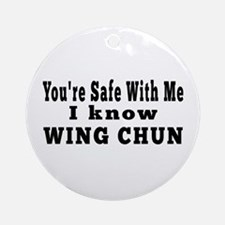 I Know Wing Chun Ornament (Round)