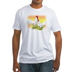 White Leghorn Chickens Fitted T-Shirt