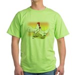 White Leghorn Chickens Green T-Shirt