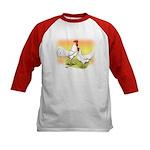 White Leghorn Chickens Kids Baseball Jersey