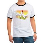 White Leghorn Chickens Ringer T