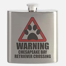 Chesapeake Bay Retriever Warning Flask