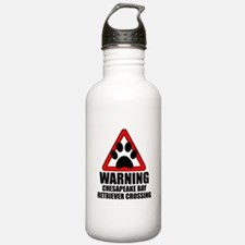 Chesapeake Bay Retriever Warning Water Bottle