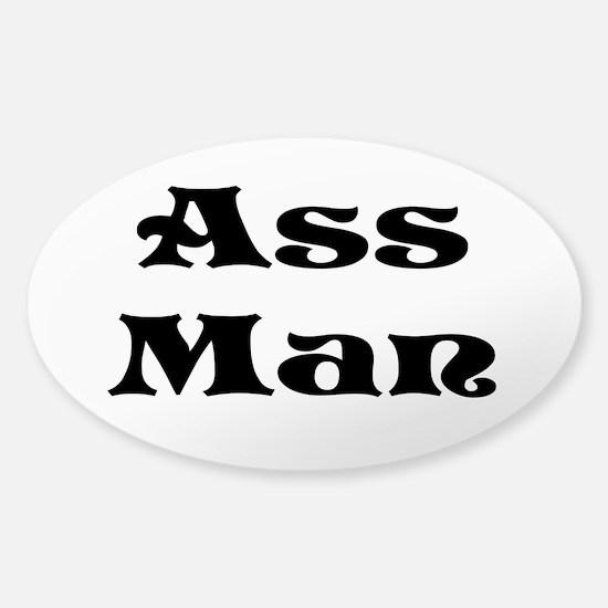 Ass Man Sticker (Oval)